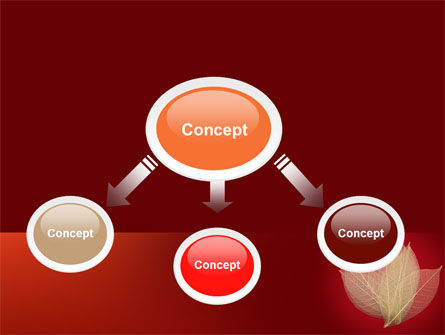 Red Dry Leaves PowerPoint Template, Slide 4, 06399, Nature & Environment — PoweredTemplate.com