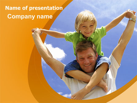 Fatherhood PowerPoint Template, 06400, People — PoweredTemplate.com