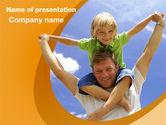 People: Fatherhood PowerPoint Template #06400