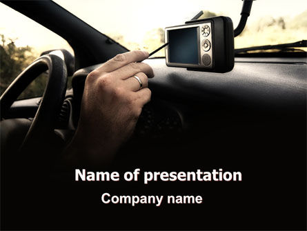 Cars and Transportation: GPS Navigator PowerPoint Template #06402