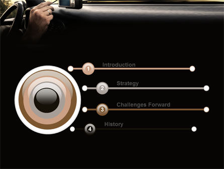 GPS Navigator PowerPoint Template, Slide 3, 06402, Cars and Transportation — PoweredTemplate.com