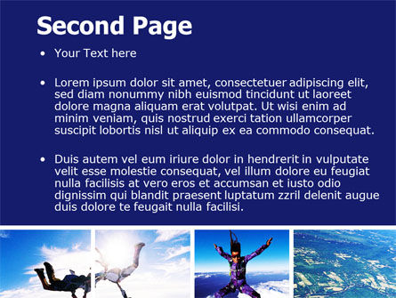 Sky Diving PowerPoint Template, Slide 2, 06404, Sports — PoweredTemplate.com