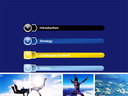 Sky Diving PowerPoint Template, Slide 3, 06404, Sports — PoweredTemplate.com