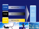 Sky Diving PowerPoint Template#12