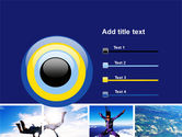 Sky Diving PowerPoint Template#9