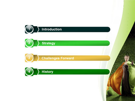 Eco Girl PowerPoint Template, Slide 3, 06406, Nature & Environment — PoweredTemplate.com