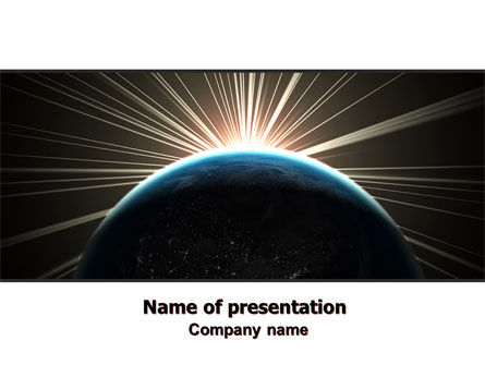 Sunrise from Space PowerPoint Template