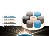 Sunrise from Space PowerPoint Template#12