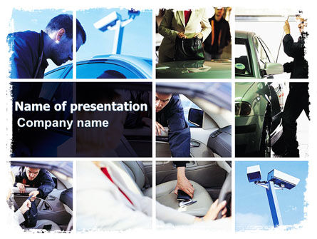Legal: Car Crime PowerPoint Template #06408