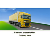 Cars and Transportation: Freight Transportation PowerPoint Template #06409