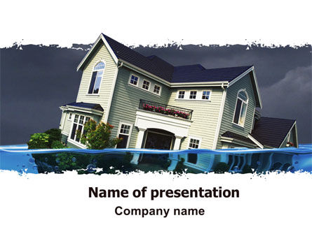 Mortgage Crisis PowerPoint Template, 06410, Construction — PoweredTemplate.com