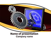Utilities/Industrial: 3D Design PowerPoint Template #06411
