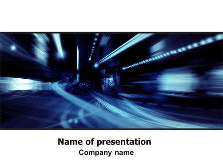 Blue Night PowerPoint Template, 06412, Cars and Transportation — PoweredTemplate.com