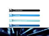 Blue Night PowerPoint Template#3