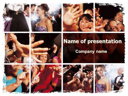 Careers/Industry: Celebrity PowerPoint Template #06414