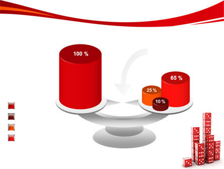Dice Bar Chart PowerPoint Template Slide 10