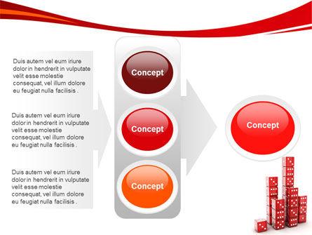 Dice Bar Chart PowerPoint Template Slide 11