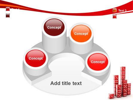 Dice Bar Chart PowerPoint Template Slide 12