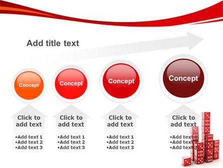 Dice Bar Chart PowerPoint Template Slide 13