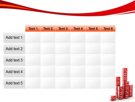 Dice Bar Chart PowerPoint Template Slide 15
