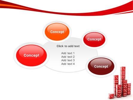 Dice Bar Chart PowerPoint Template Slide 16