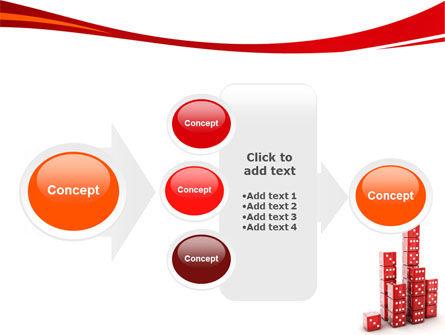 Dice Bar Chart PowerPoint Template Slide 17