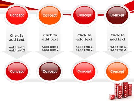 Dice Bar Chart PowerPoint Template Slide 18