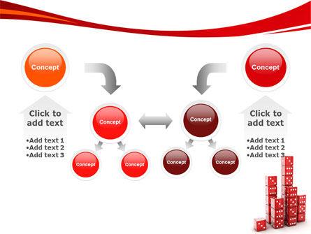 Dice Bar Chart PowerPoint Template Slide 19
