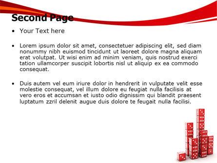Dice Bar Chart PowerPoint Template, Slide 2, 06415, Business Concepts — PoweredTemplate.com