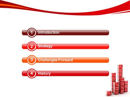 Dice Bar Chart PowerPoint Template, Slide 3, 06415, Business Concepts — PoweredTemplate.com