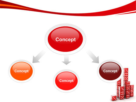 Dice Bar Chart PowerPoint Template, Slide 4, 06415, Business Concepts — PoweredTemplate.com