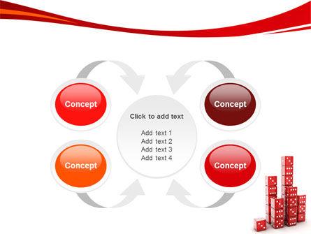 Dice Bar Chart PowerPoint Template Slide 6