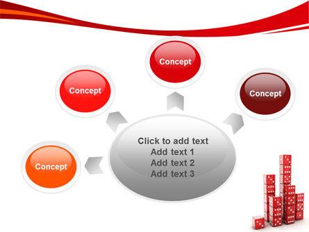 Dice Bar Chart PowerPoint Template Slide 7