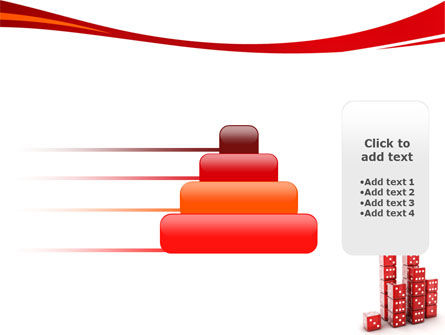 Dice Bar Chart PowerPoint Template Slide 8