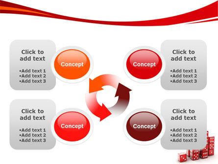 Dice Bar Chart PowerPoint Template Slide 9