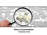 Financial/Accounting: Modelo do PowerPoint - enigma do dólar #06417