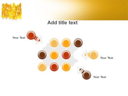Orange Alphabet PowerPoint Template Slide 10