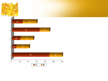 Orange Alphabet PowerPoint Template Slide 11