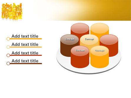 Orange Alphabet PowerPoint Template Slide 12