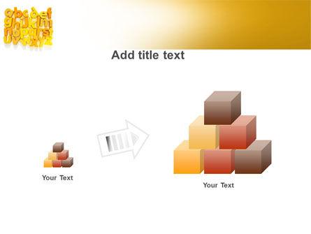 Orange Alphabet PowerPoint Template Slide 13