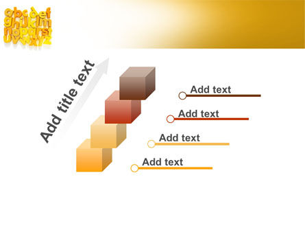 Orange Alphabet PowerPoint Template Slide 14