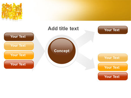 Orange Alphabet PowerPoint Template Slide 15