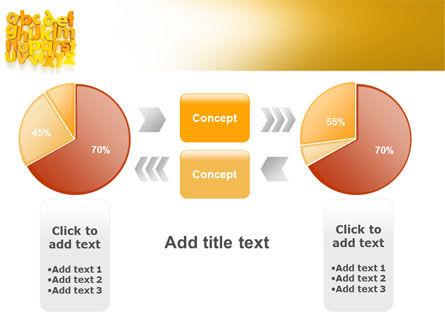 Orange Alphabet PowerPoint Template Slide 16