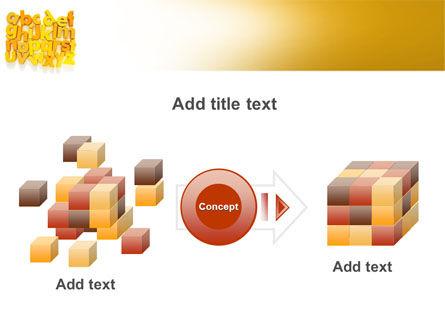 Orange Alphabet PowerPoint Template Slide 17