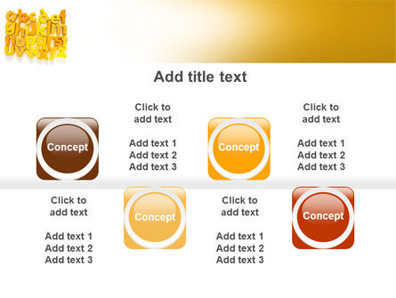 Orange Alphabet PowerPoint Template Slide 18