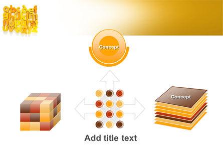 Orange Alphabet PowerPoint Template Slide 19