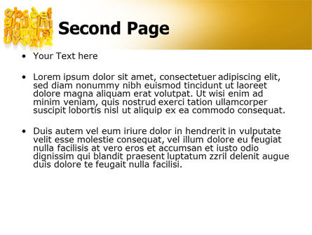 Orange Alphabet PowerPoint Template, Slide 2, 06418, Education & Training — PoweredTemplate.com