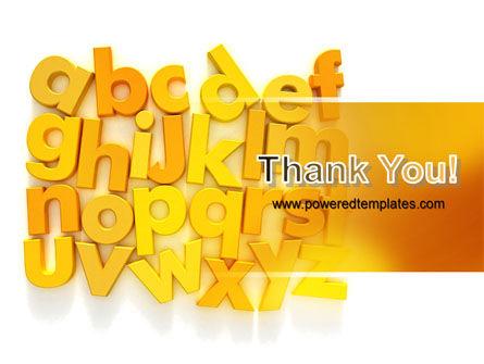 Orange Alphabet PowerPoint Template Slide 20