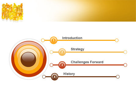 Orange Alphabet PowerPoint Template, Slide 3, 06418, Education & Training — PoweredTemplate.com