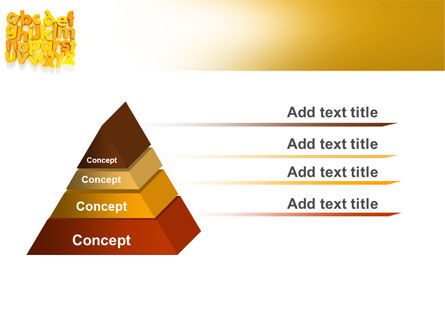 Orange Alphabet PowerPoint Template, Slide 4, 06418, Education & Training — PoweredTemplate.com